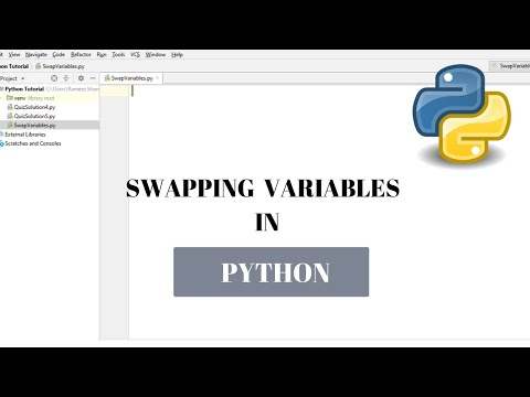 #28 Python Tutorial for Beginners | Swapping variables in python thumbnail