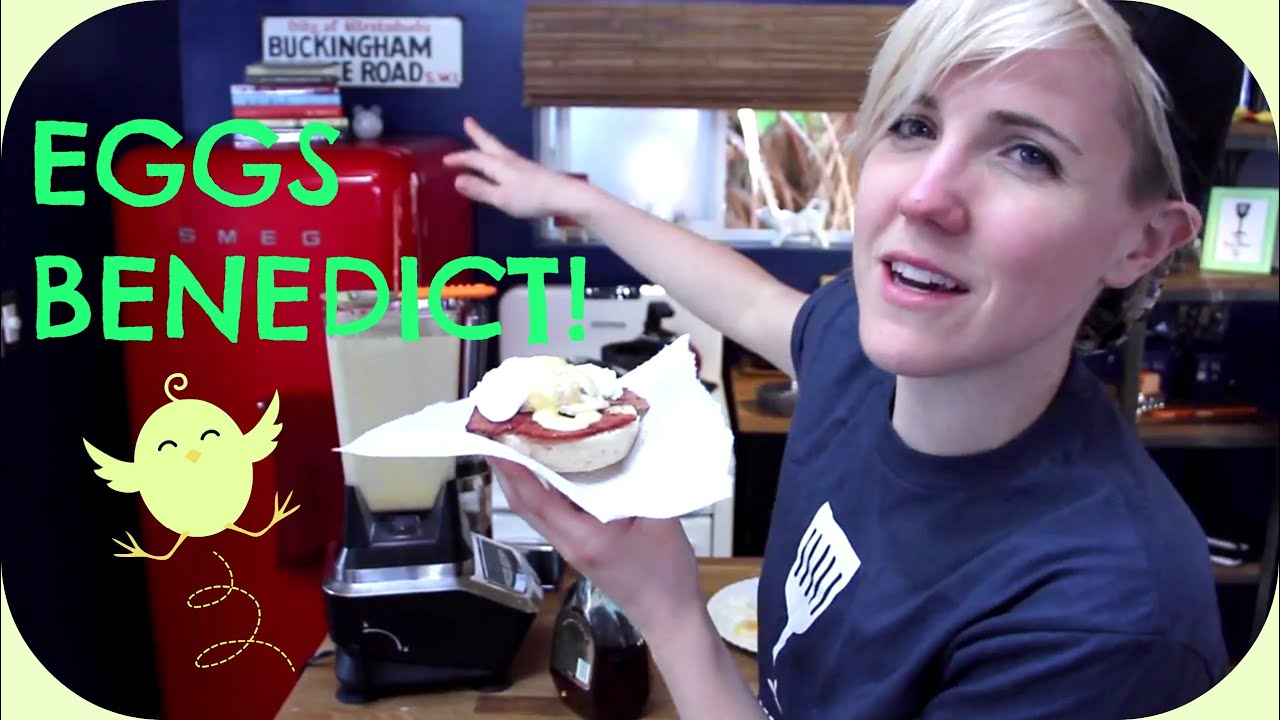 my drunk kitchen: eggs benedict! - youtube