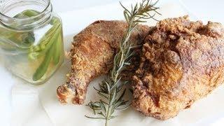 Best Fried Chicken Ever with Jalapeno & Garlic Vinegar