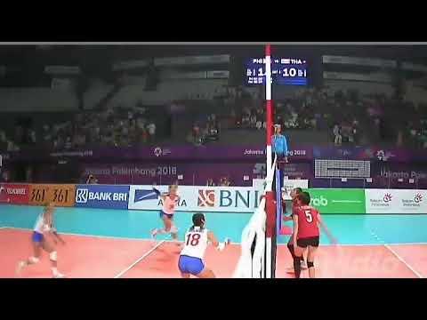Philipina Vs Thailand Volly Ball Women's Asian Games 2018 Bola Voli Putri