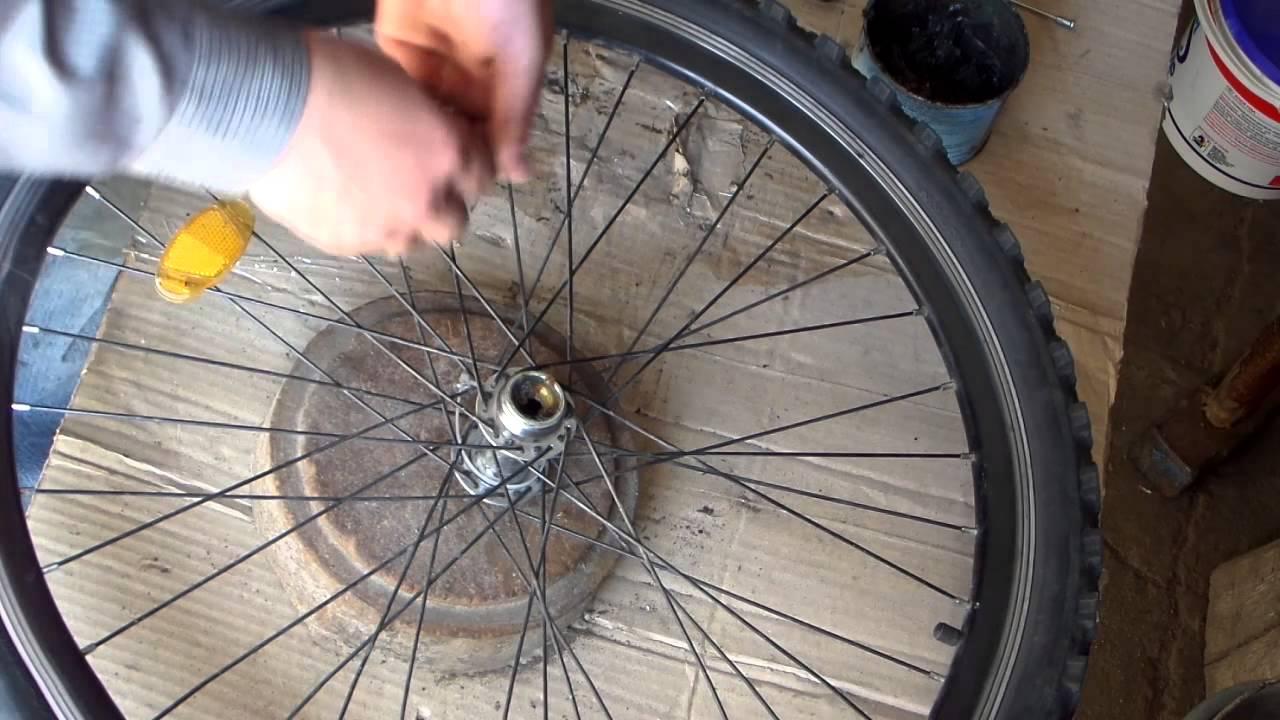 Схема сборки заднего колеса на велосипеде