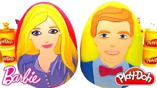 Huevos Sorpresa Gigante de Barbie y Ken en Español de Plastilina  Play Doh
