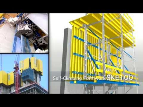 Doka Concrete Formwork Climbing Systems Youtube