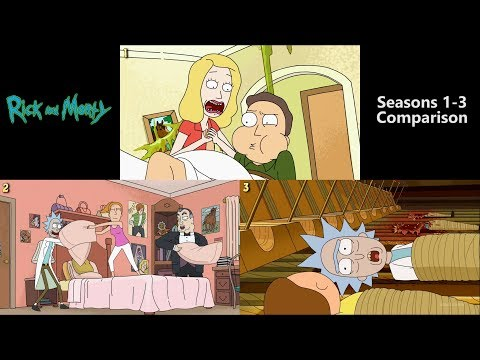 Rick And Morty Intro (Seasons 1-3 Comparison)