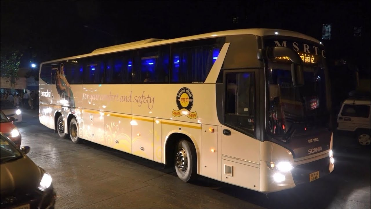 Volvo luxury bus interior - Latest Newly Launched Hi Tech Multi Axle Scania Bus Of M S R T C From Mumbai To Pune Youtube