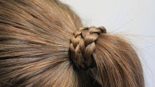 髪の毛を結んだゴムを 髪の毛で隠す方法 2 またゴム 検索動画 4