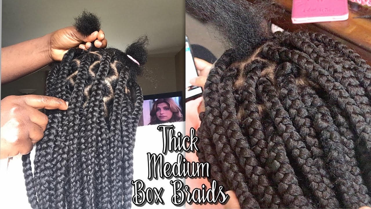 Medium Jumbo Box Braids Tutorial