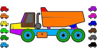 Broken car and truck coloring pages | Learn colors for kids with vehicles coloring book
