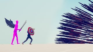 CAPTAIN AMERICA & DEFLECT GOD vs POWERFUL RANGED - Totally Accurate Battle Simulator TABS