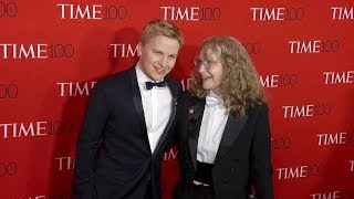 Mia Farrow and Ronan Farrow on the red carpet for the 2018 Time 100 Gala in New York City