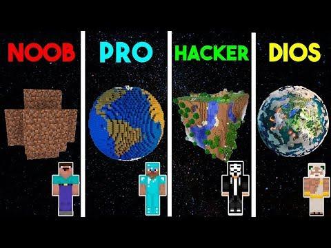 ¿¡MINECRAFT NOOB VS PRO VS HACKER VS DIOS PLANETA EN MINECRAFT!?   MINECRAFT TROLL thumbnail