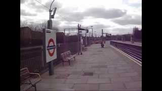 Trains at Dagenham East station 31/3/12