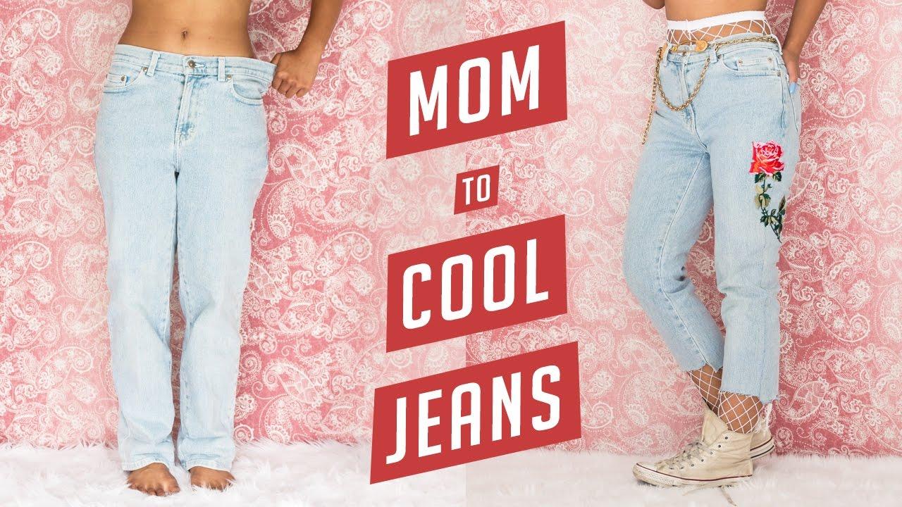 DIY Mom Jeans to Cool It-Girl $4 Jeans | DIY | Nava Rose