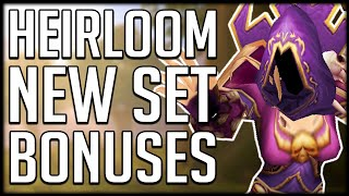 A BIG WASTE OF GOLD? New Heirloom SET BONUS & Bonus Experience Changes | Shadowlands Beta