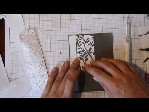 Creating a card using die cut inlay technique