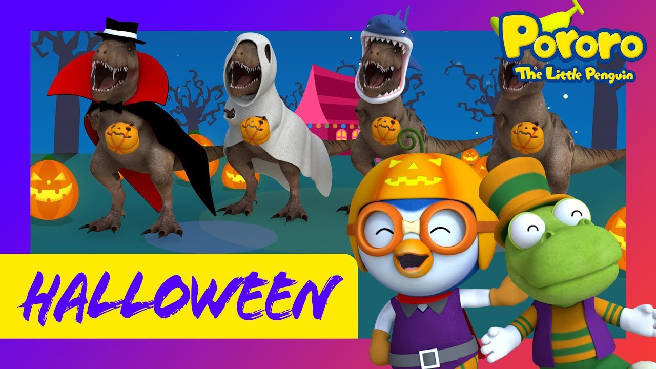 Halloween Song for kids l Tyranno Halloween l Pororo the little penguin