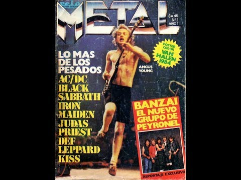 Revista Metal nros 01 al 85 Editorial Magendra Republica Argentina