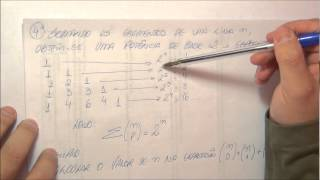 2º ano do EM - 8 - binômio de newton - 5 - propriedade do triângulo de pascal 1ª parte