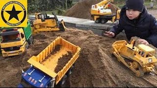 BRUDER Toys Tunnel Project Episode 9 Liebherr Heavy LOADER MACK DUMP TRUCK JCB Excavator