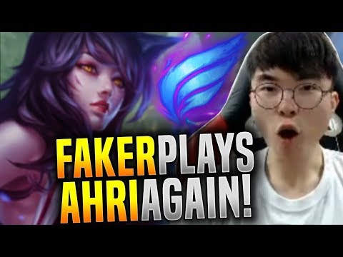 Faker Plays His Ahri Again! - SKT T1 Faker Picks Ahri Midlane! | SKT T1 Replays