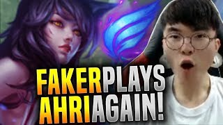 Faker Plays His Ahri Again! - SKT T1 Faker Picks Ahri Midlane! | SKT T1 Replays