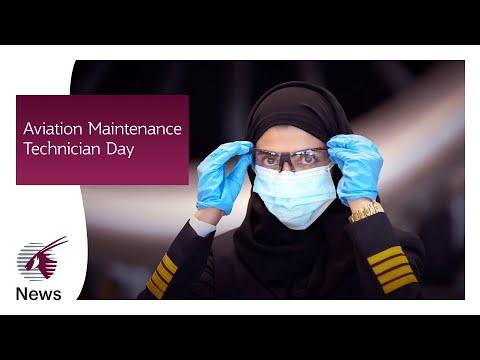 Engineering aspirations on Aviation Maintenance Technician Day   Qatar Airways