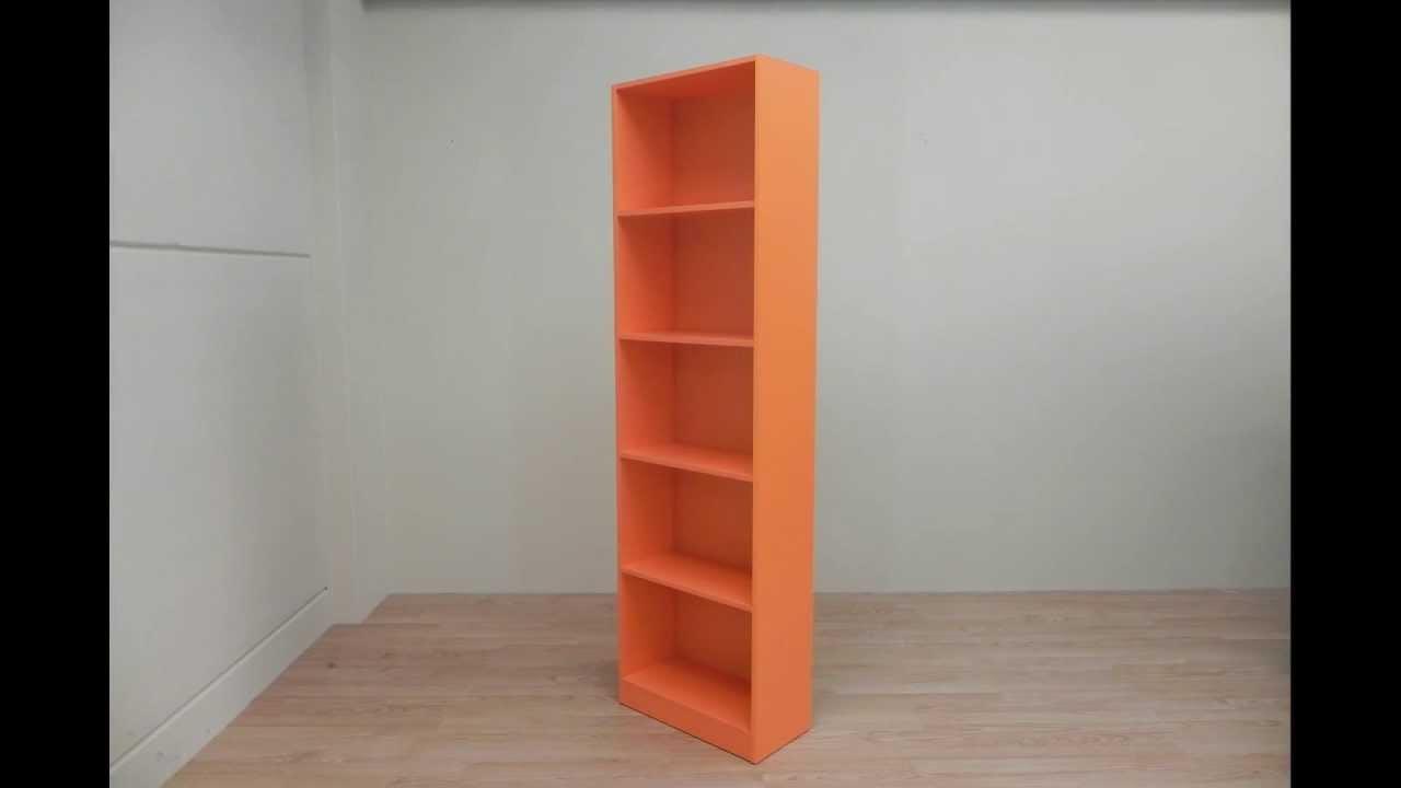 Estanteria libreria de 5 estantes de dormitorio juvenil - Transformar muebles ikea ...