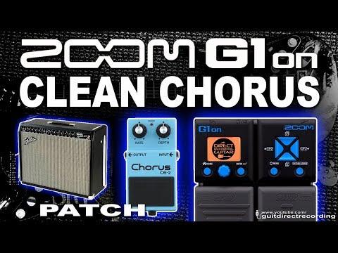 ZOOM G1on CLEAN CHORUS G1xon Fender Twin Simulation [Guitar Patches].