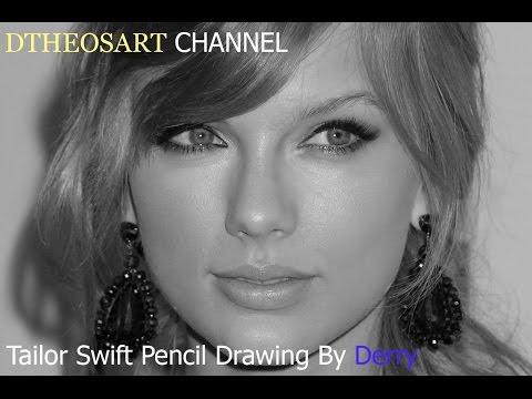 cara menggambar realis, Drawing taylor swift (realism art pencil drawing) Part.1