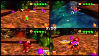 Donkey Kong 64 - Four-Player Monkey Smash (Actual N64 Capture)