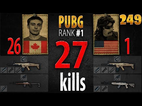 PUBG Rank 1 - Shroud & DrDisRespect 27 kills [NA] DUO FPP - PLAYERUNKNOWN'S BATTLEGROUNDS #249