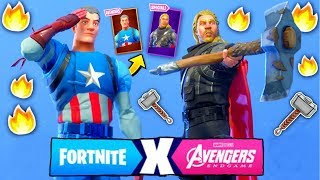 Avengers Skins In Fortnite So Serian The 9 skins of the Fortnite Avengers!!!