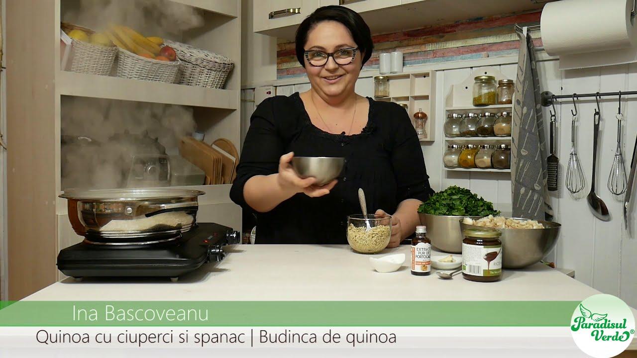 ciuperci cu quinoa si spanac)