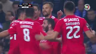 Goal   Golo Rafa: FC Porto 1-(2) Benfica (Liga 18/19 #24)