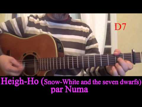 Heigh Ho (Snow White and the Seven Dwarfs) Blanche-neige guitar cover with Chords