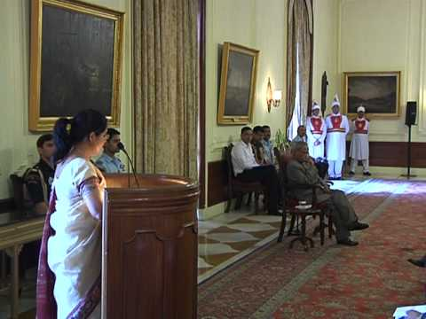 Officer trainees of the 66th Batch of Indian Revenue Service calls-on the President-Part 1-18-03-13