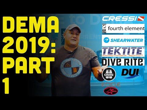 DEMA 2019: PART 1: Major Manufacturers, New Scuba Diving Gear