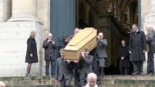 Robert Hossein, Jean-Pierre Marielle, Line Renaud et la famille de Michel Galabru a ses obseques
