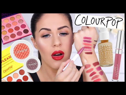 HUGE COLOURPOP HAUL!! LIPSTICKS, EYESHADOWS, FOUNDATION, PALETTES & MORE!!