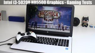 intel i3 5020U HD5500 Graphics Gaming Test