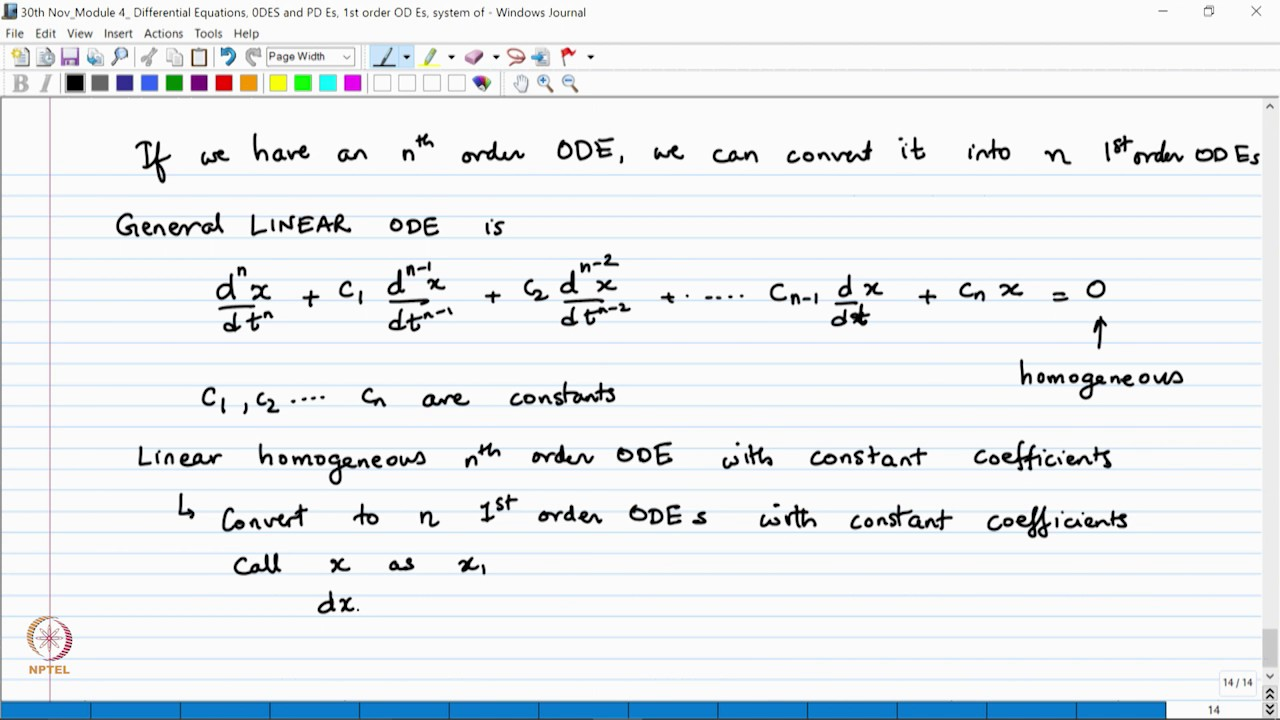 NPTEL :: Chemistry and Biochemistry - NOC:Advanced Mathematical