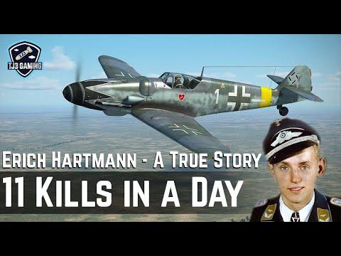 Download 11 Kills in a Day - The True Story of Erich Hartmann - Historic WWII Cinematic IL2 Sturmovik