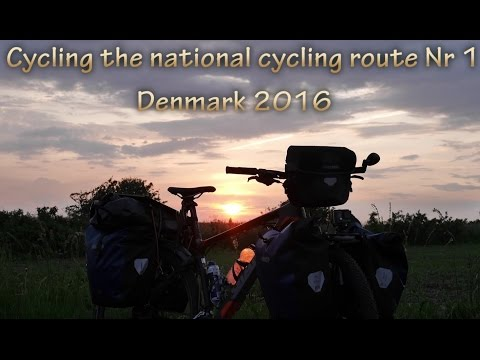 Cycle Touring the West coast of Jutland, Denmark, following the National cycle route nr 1
