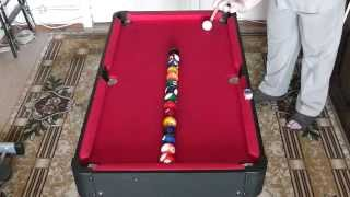 Домашний бильярд. Урок 4 (Home billiards. lesson 4) Американка в линию