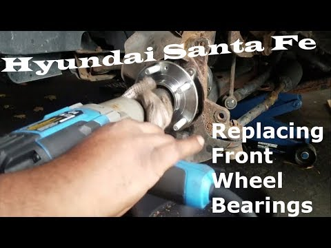 Hyundai Santa Fe – Replace Front Wheel Bearings