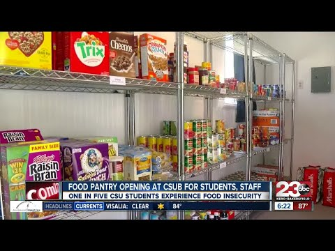 Food Pantry Opening At CSUB For Students And Staff