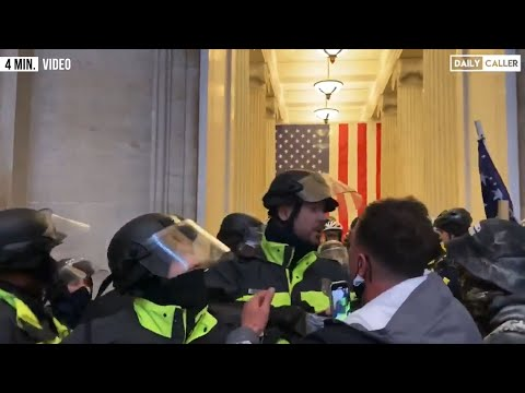 NEW FOOTAGE: Watch Police Confront The Mob As Chaos Breaks Out In The Capitol Building