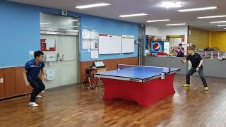 지경환탁구클럽 1부들의 몸푸는 장면~table tennis ♡♡♡탁구사랑♡♡♡