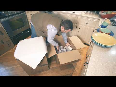Packing for a move using basic materials and everyday items.  Helpful tips and instruction.