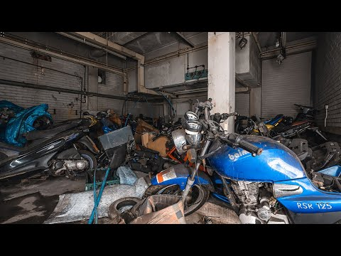 Abandoned Drug Lords Hideout Found Motor Bike Graveyard Deep Underground